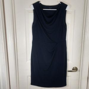 ANN TAYLOR~ CASUAL COWL NECK DRESS~NAVY BLUE~SZ 10